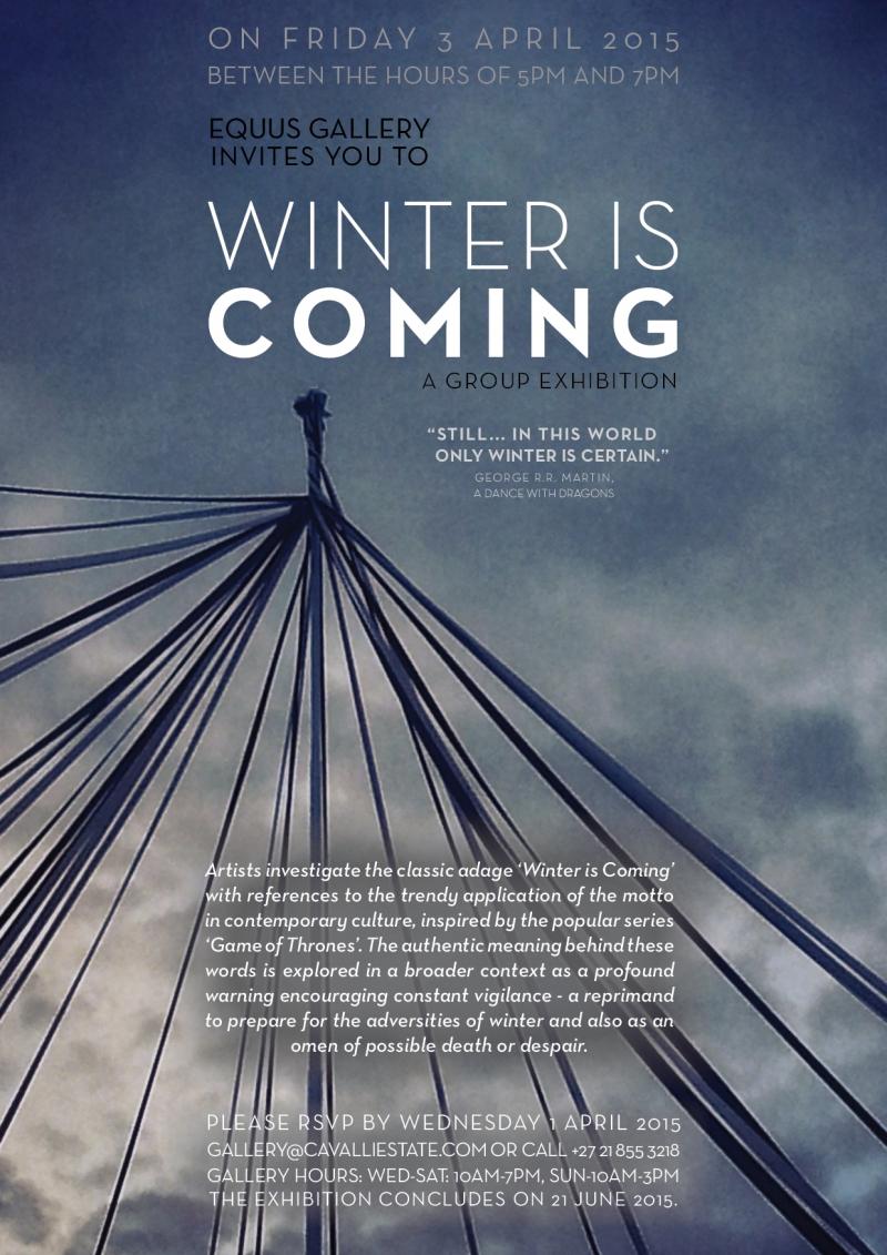 winter is coming invite