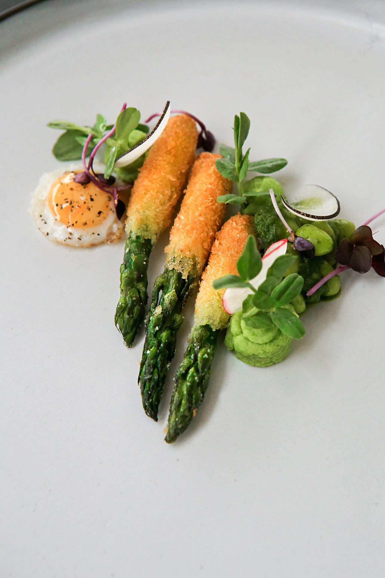 Asparagus Food Art Cavalli Estate Wedding Venue Wine