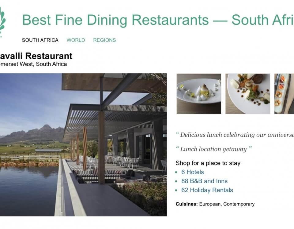 trip advisor best fine dining restaurants cavalli restaurant