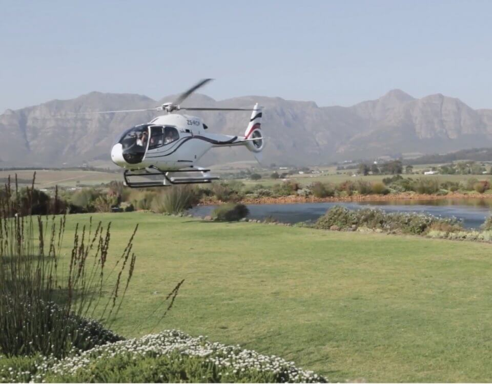 Arriving in style via helicopter at cavalli estate 1